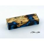 Buckeye Burls & Swirls Block - Sky Blue/Cobalt Blue (WS1-0071)