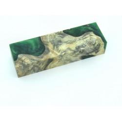 Buckeye Burls & Swirls Block - Green (WS1-B0083)