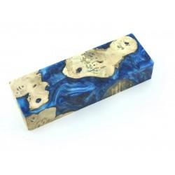 Buckeye Burls & Swirls Block - Cobalt & Sky (WS1-B0085)