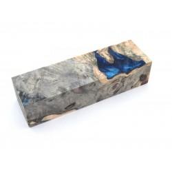 Buckeye Burls & Swirls Block - Cobalt/Sky Blue (WS1-B0094)