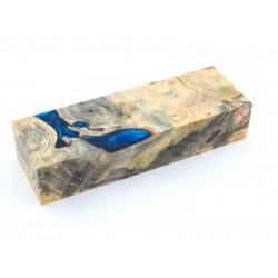Buckeye Burls & Swirls Block - Cobalt/Sky Blue (WS1-B0095)