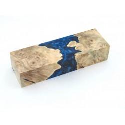 Buckeye Burls & Swirls Block - Cobalt/Sky Blue (WS1-B0096)