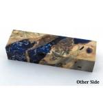 Buckeye Burls & Shrapnel Block - Cobalt (WS1-B0084)