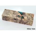 Buckeye Burls & Swirls Block - Sky/Green (WS1-B0085)