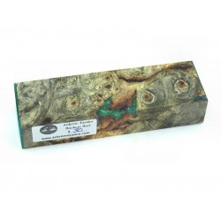Buckeye Burls & Swirls Block - Sky Blue/Green (WS1-0049)