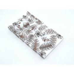 Mini Spruce Pine Cone - Pure White  (WS23-SMS004)