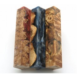 Burls & Swirls Pen Blanks - 3pk (WS1-P0069)