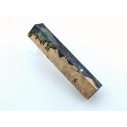 Burls & Swirls Pen Blank - Cobalt/Gold (WS1-P0073)