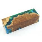 Australian Burls & Swirls Block - Green/Sky (WS1-0061)