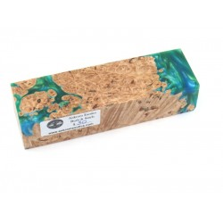 Maple Burls & Swirls Block - Green/Sky (WS1-0040)