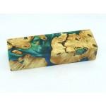 Buckeye Burls & Swirls Block - Sky Blue/Green (WS1-0048)