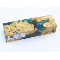Buckeye Burls & Swirls Block - Sky Blue/Green (WS1-0050)