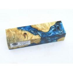 Buckeye Burls & Swirls Block - Sky Blue/Black  (WS1-0060)