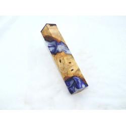 Burls & Swirls Pen Blank - Pearl White & Violet (WS1-P0029)